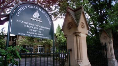 The main school entrance of Trinity Grammar in Summer Hill.