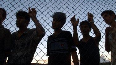Asylum seekers at Nauru.