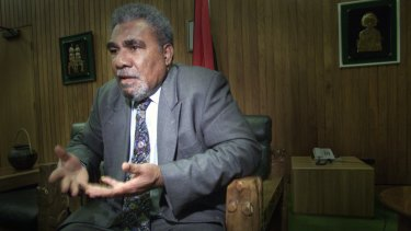 Former prime minister of Papua New Guinea Sir Mekere Morauta.