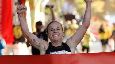 Cassie Fien was the fastest woman in the Sydney Morning Herald Half Marathon.