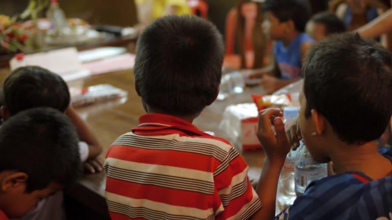 Children at an Australian run orphanage in Phnom Penh.