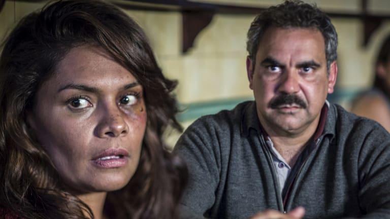Wayne Blair with Lisa Flanagan in <i>Redfern Now</i>.