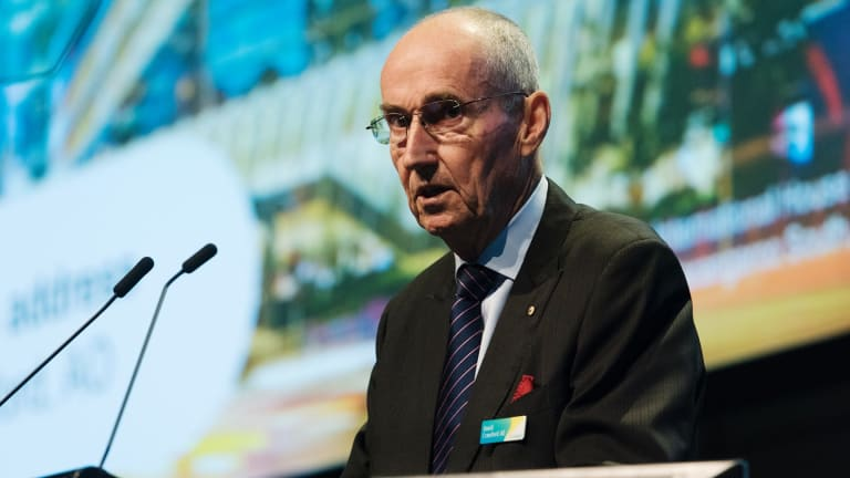 Chairman David Crawford at the Lendlease annual general meeting on Friday.
