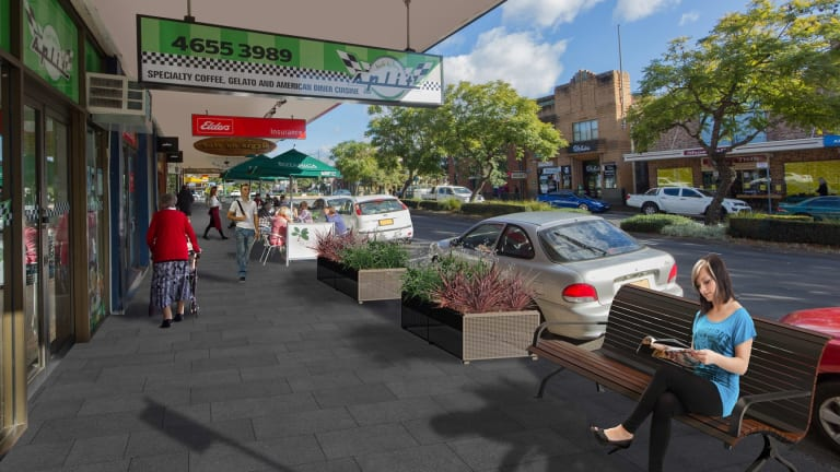 The the proposed new-look Camden town centre, including the controversial darker pavers.