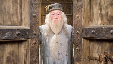 Dumbledore (played here by Michael Gambon) was an elderly man in the Potter films.