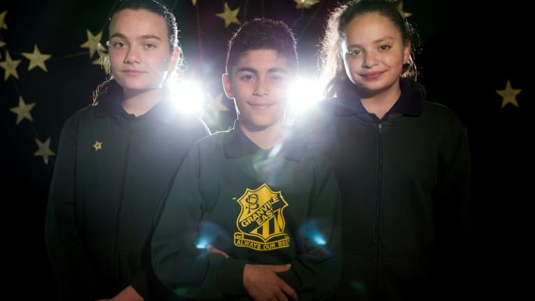 Granville East Public School students Jana Ajaj, Abdelelah Faisal, and Annabella Zraika have coded an experiment that is being launched into space.