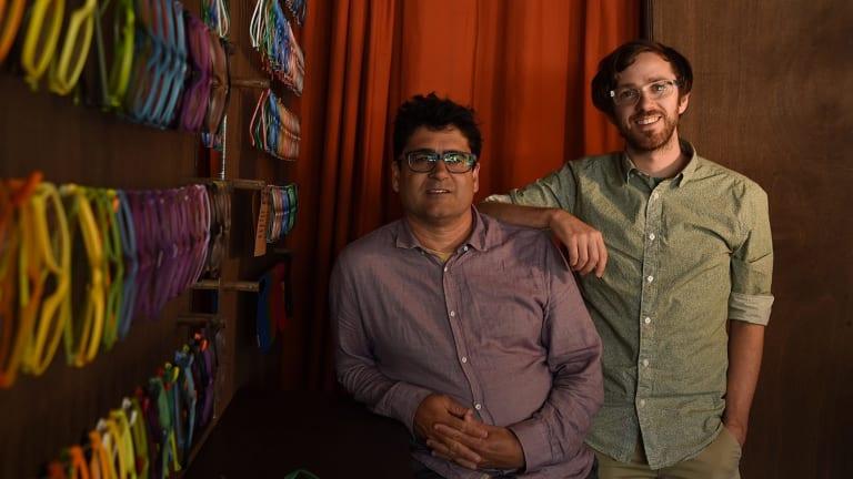 Bruce Jeffreys (left) and Jason McDermott in Dresden's Rozelle shop.