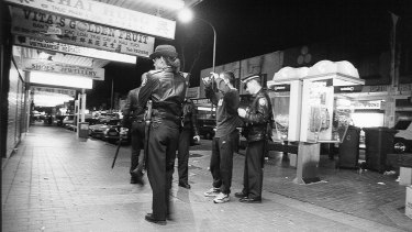 Police officers in Cabramatta during the heroin epidemic.