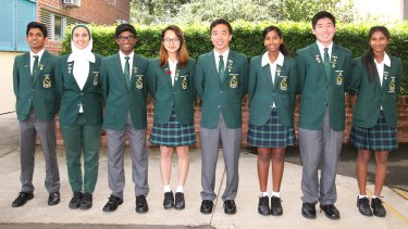 The class of 2016: James Ruse Agricultural High School achieved the triple – first overall, first in higher English and first in Maths.