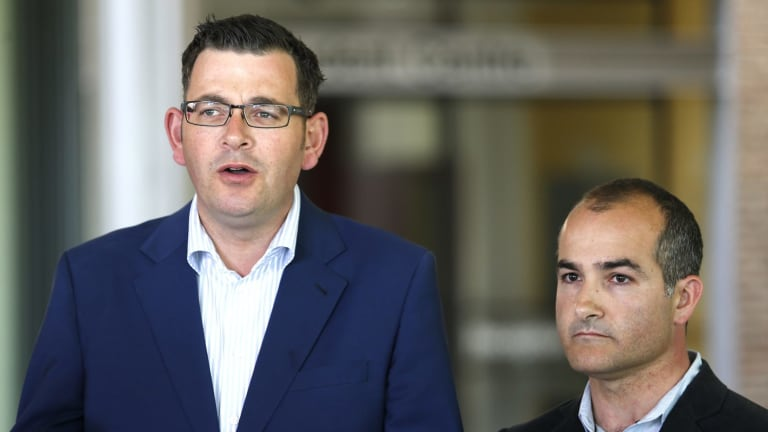 Premier Daniel Andrews and deputy James Merlino have differing views on assisted dying.