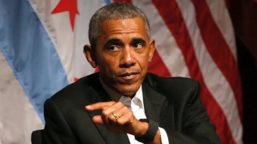 Former president Barack Obama has largely avoided criticising his successor.