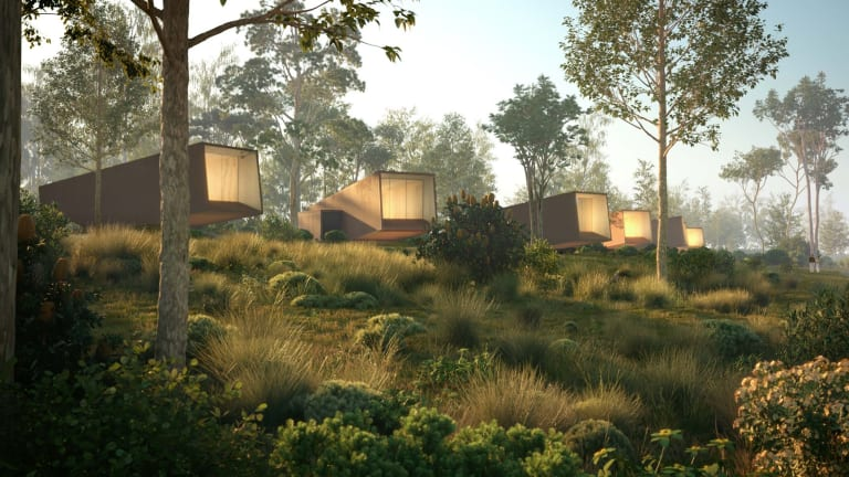 An artist's impression of the proposed hot springs project to be built near the Twelve Apostles.