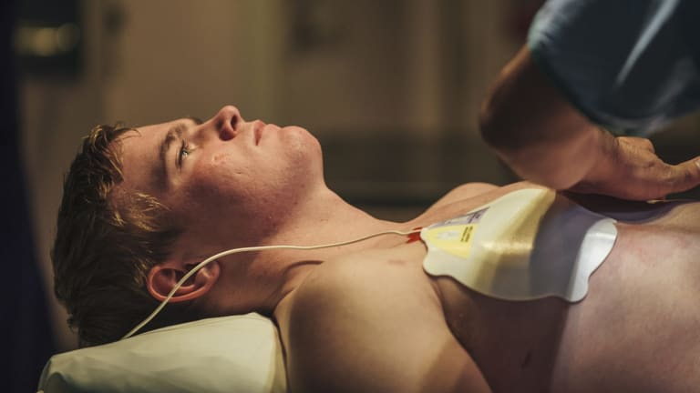 A patient is fitted with a pacemaker.