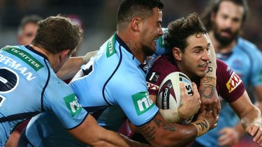 End of the line? Billy Slater has missed selection in Origin I.