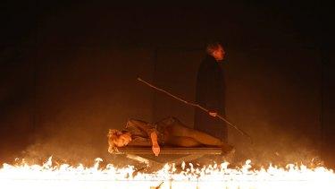 Ring of fire: Lise Lindstrom (Brunnhilde) and James Johnson (Wotan).