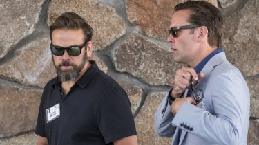 Lachlan Murdoch, co-chairman of Twenty-First Century Fox (left), and CEO James Murdoch.