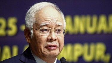 Malaysian PM Najib Razak in Kuala Lumpur in January.