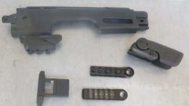 Gun parts were sent in the post from the US and Hong Kong.