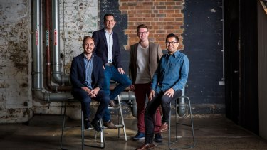 Spaceship founders Paul Bennetts, Andrew Sellen, Dave Kuhn and Kaushik Sen.