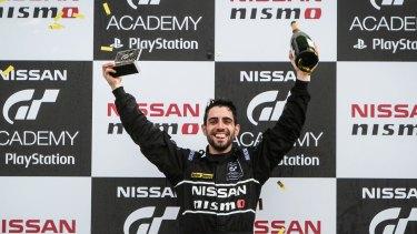 Australia's Matthew Simmons won the 2015 Nissan GT Academy final at Siverstone.