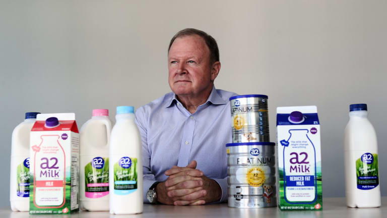 """""""Obviously our infant formula business will continue to grow strongly, if only to meet the demand that hasn't been satisfied to date,"""" a2 Milk boss Geoff  Babidge said."""