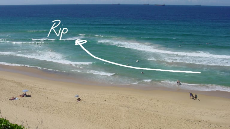 An image from the Jason Markland documentary on rip currents shows another type of rip.
