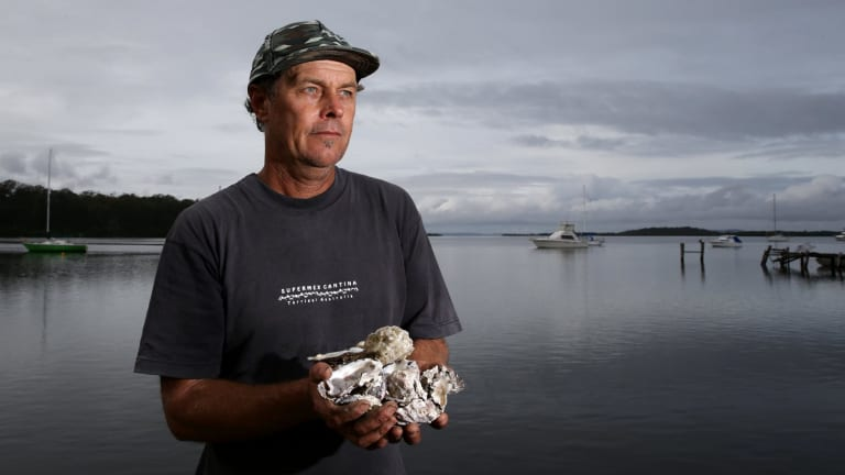 Oyster farmer Mark Hunter: the industry is on its news since last month's super storm.