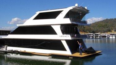 Luxury cruise: The $2 million boat Legacy.