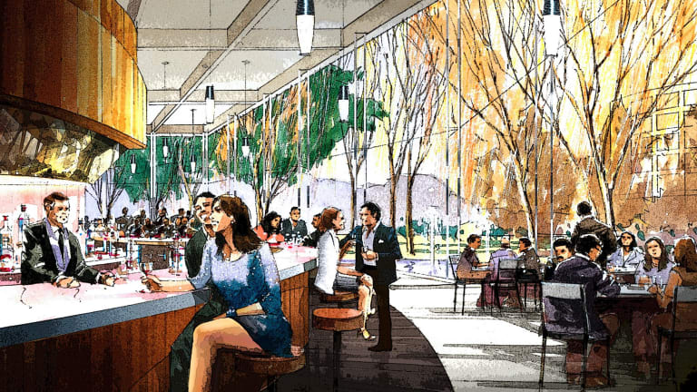 An artist impression of a bar area in the redeveloped Canberra Casino.