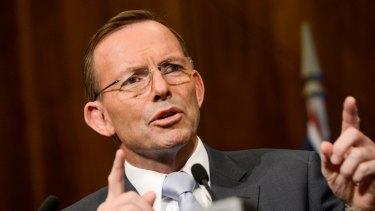 Kept well away: Prime Minister Tony Abbott.