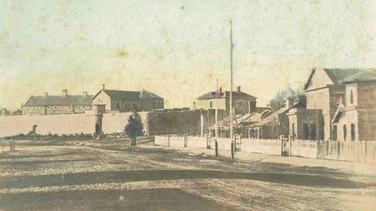 Beechworth Gaol in the 1800s.