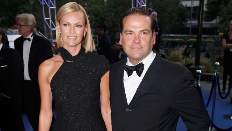 Sarah Murdoch and Lachlan Murdoch are in Sydney for Christmas.