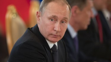 """""""The level of trust at the working level ... has degraded"""": Russian President Vladimir Putin."""