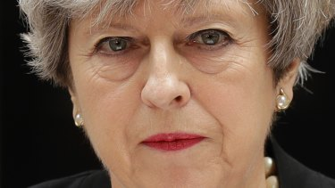 Upset about leaks: British Prime Minister Theresa May