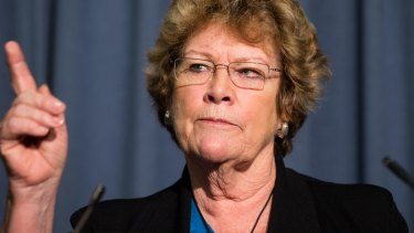 NSW Health Minister Jillian Skinner fronts a press conference on Tuesday to deliver interim findings on the hospital gassing of two babies.