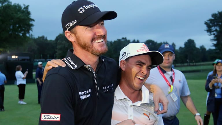 Team USA: Rickie Fowler (right) and Jimmy Walker are best of mates.
