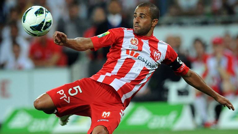 Fred scored for Melbourne City - then Heart - in the 2012 clash.