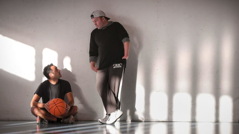 Peter Abraham and Dave Gunstone became friends through their shared love of basketball.