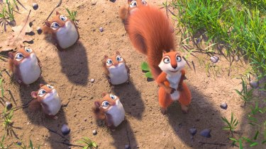 Wisecracking animals: a scene from The Nut Job 2: Nutty by Nature.