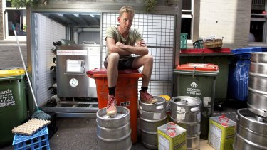 Joost Bakker,  owner of Brothl, a zero-waste restaurant, is closing next week after a long running dispute with Melbourne City Council over their composter being in the laneway outside.