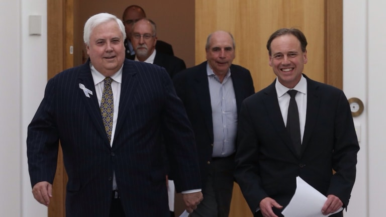 PUP leader Clive Palmer insists an emissions trading scheme remains on the agenda, despite Environment Minister Greg Hunt saying otherwise.