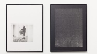 Photographic diptych by Olga Bennett, part of the group show at Caves.