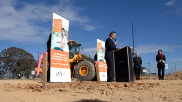 Flashback to August, 2009: Jon Stanhope turns the first sod on a block in Forde as part of the launch of stage two of the affordable housing action plan.