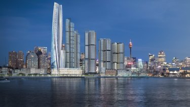 Artists' impression of the latest Barangaroo design.