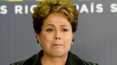 Awful memories: Brazilian President Dilma Rousseff cries while delivering a speech during the ceremony presenting the final report of the National Truth Commission.