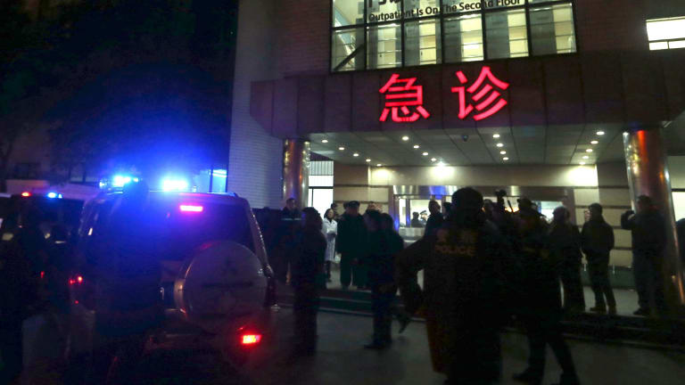 At least 35 people have been killed in a stampede in Shanghai.