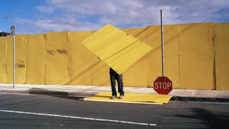 Jesse Marlow's <i>Stop</i> (detail).