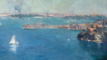 Arthur Streeton's 1907 panorama of Sydney Harbour is listed for sale for only the fourth time.