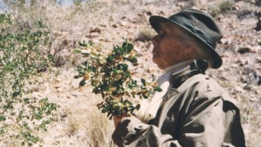 Olive Pink in the Alice Springs reserve around 1960.