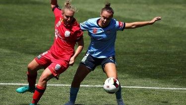 Shock defeat: Adelaide United surprise prior league leaders Sydney FC.